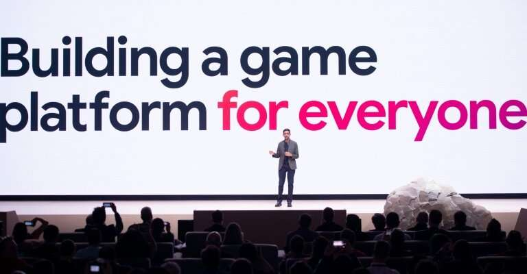 "Google CEO Sundar Pichai said the online giant's Stadia technology aimed ""to build a game platform for everyone"""