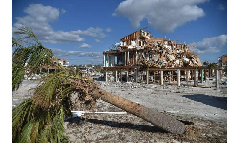 Hurricane Michael devastated parts of Florida in October 2018, including the town of Mexico Beach, seen here