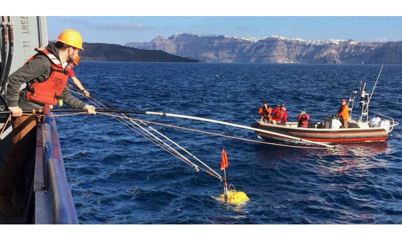 We probed Santorini's volcano with sound to learn what's going on beneath the surface