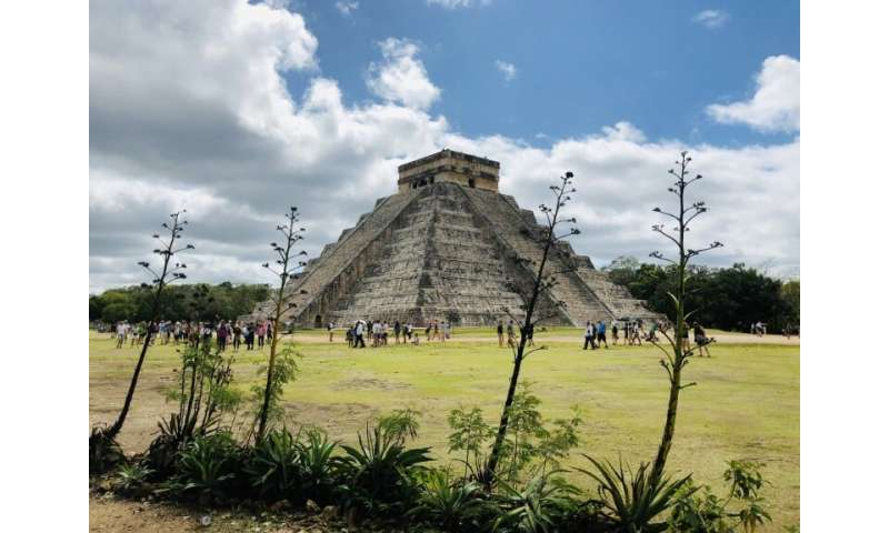 Archaeologists have discovered a cave filled with hundreds of artifacts beneath the ruins of the Mayan city of Chichen Itza in M