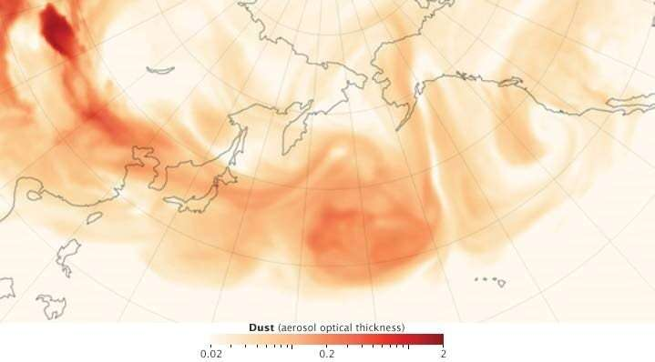 Scientists discover unlikely culprit for fertilizing North Pacific Ocean: Asian dust