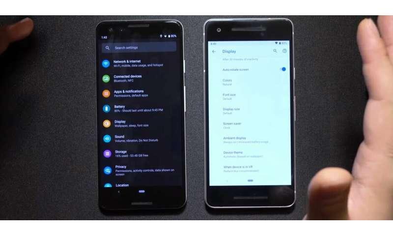 034275bd2fcb Finders spot Dark Mode in Android Q leak