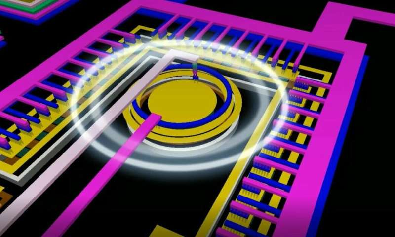 Light connects two worlds on a single chip