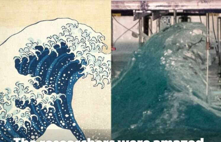 Famous freak wave recreated in laboratory mirrors Hokusai's 'Great Wave'