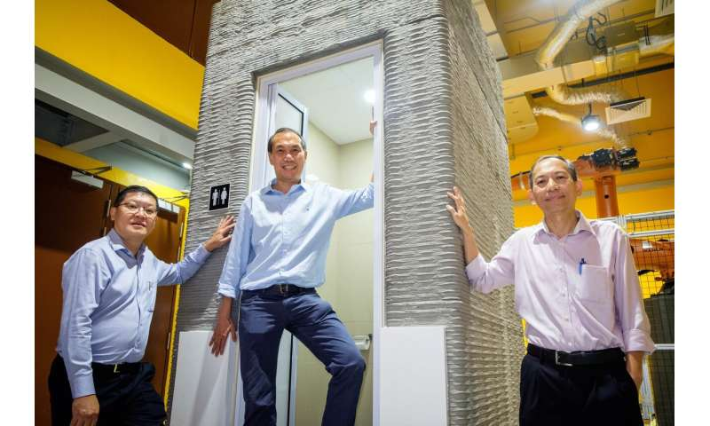 Technology to 3D-print a bathroom unit within a day