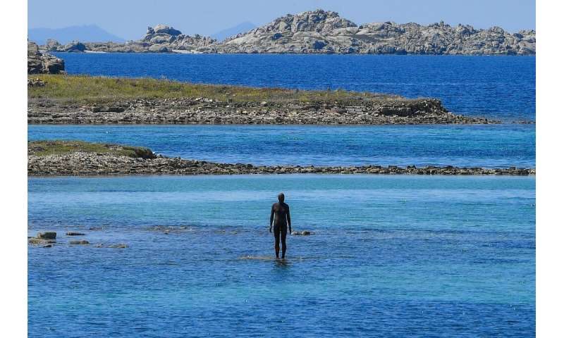 '6 Times Left' Antony Gormley: his works have been scattered around the small island