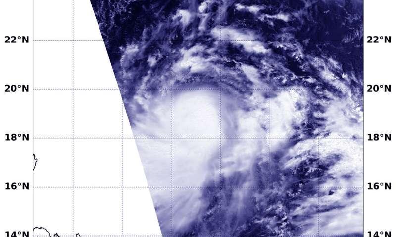 NASA satellite finds strong storms circling Lekima's center