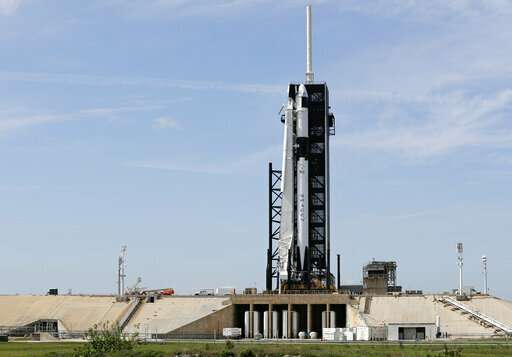 America's newest crew capsule rockets toward space station