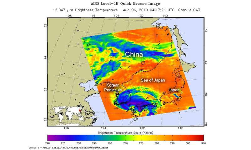 NASA finds tropical storm Francisco in the Korea strait