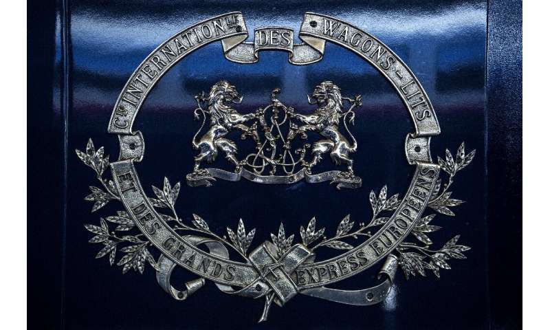 A carriage bearing the coat of arms of the grandly-named Compagnie internationales des wagons-lits et des grands express europee