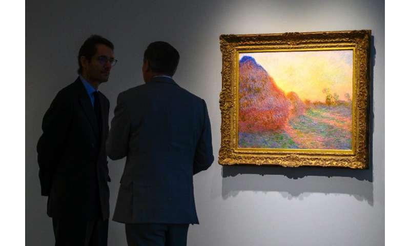 "A Claude Monet painting from his celebrated ""Meules"" (Haystacks) series drew $110.7 million at Sotheby's in New York i"