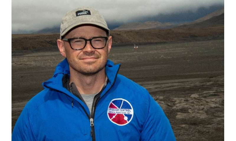Adam Deslauriers, of Canada's Mission Control Space Services, said the prototype rover being used on the Icelandic lava field wa