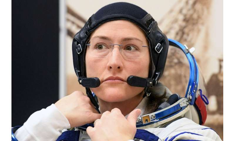 Also in the ISS is Christina cook, who will soon hit the record for the longest time a woman was in space, at 11.
