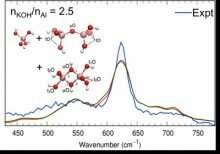Aluminum complexes identified via vibrational fingerprints