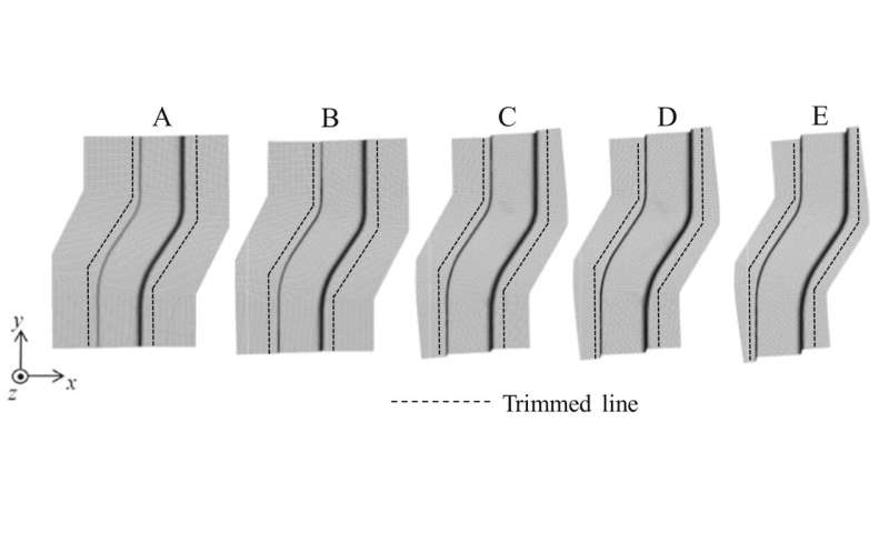 A metal sheet stamping simulation promises improved car part production