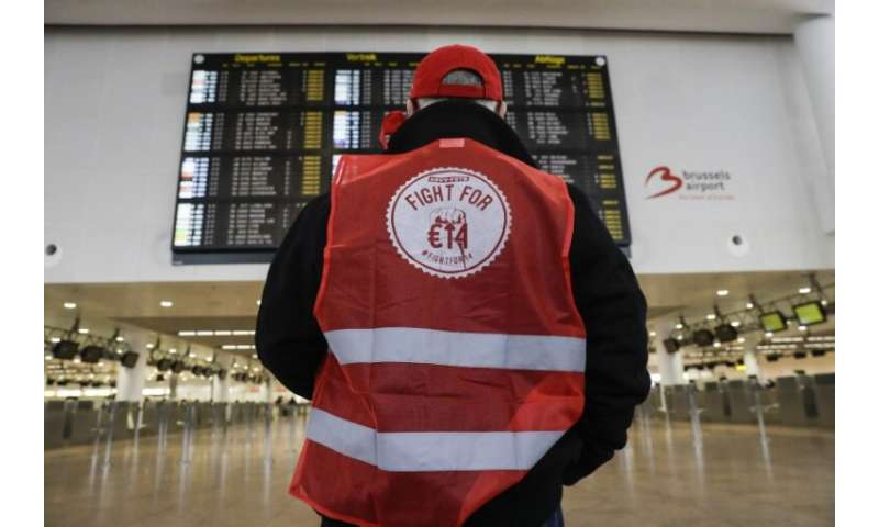 A nationwide strike has brought air traffic to a halt in Belgium