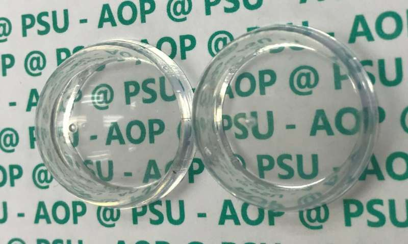 Anti-glare coating makes the plastic invisible