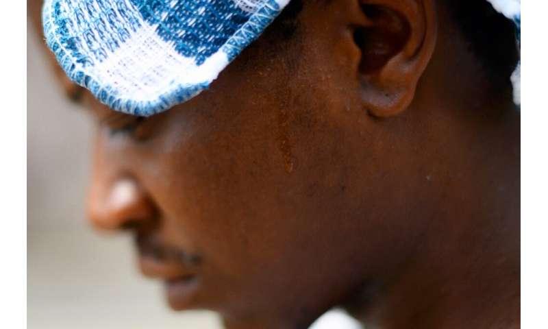 A Philadelphia man, R.J. Rahman, wore a wet rag on his head in an effort to fend off the dangerously oppressive heat