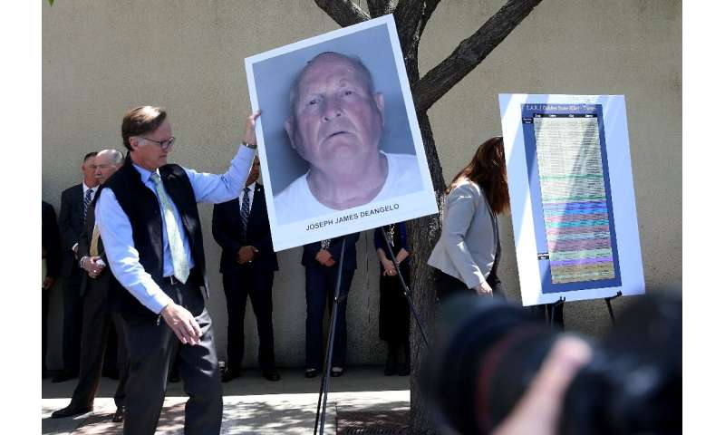 """A photo of Joseph James DeAngelo, accused of being the """"Golden State Killer"""""""