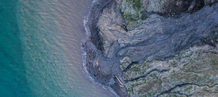 Arctic coast erosion revealed by drone images
