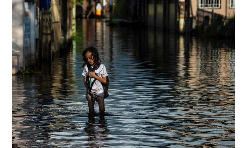 Areas north of Manila like the provinces of Pampanga and Bulacan have sunk four-six centimetres (1.5-2.4 inches) a year since 20