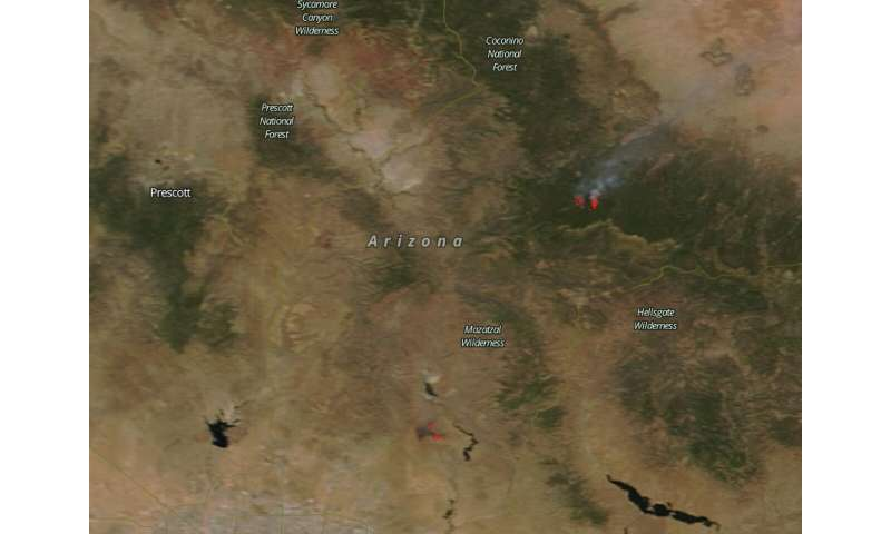 Arizona suffering from several large wildfires