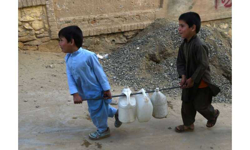Around 70 percent of Kabul's water is contaminated by waste and chemicals from leaky household septic tanks and industrial plant