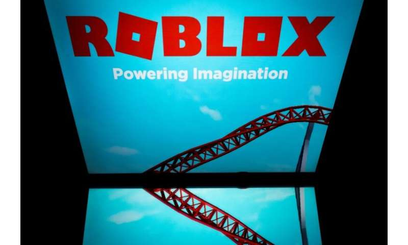 A screenshot of Roblox, the online gaming service, on the screen of a tablet