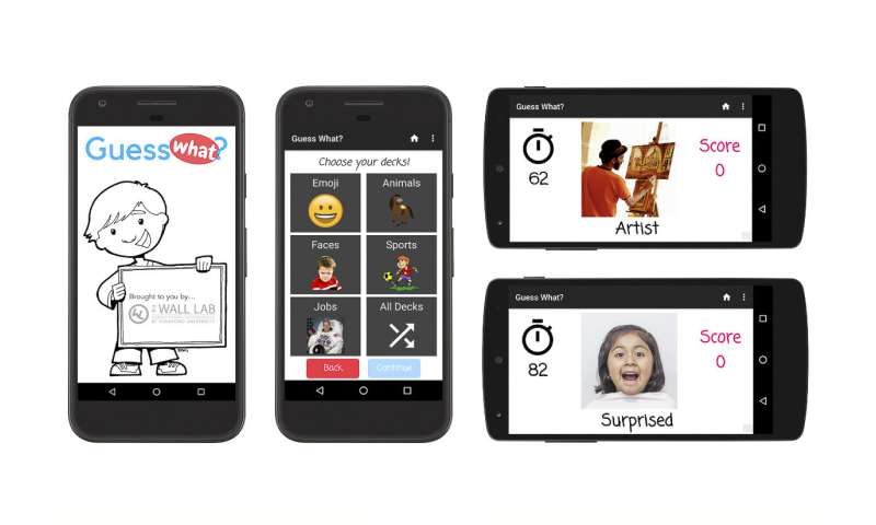 Smartphone app to treat and track autism