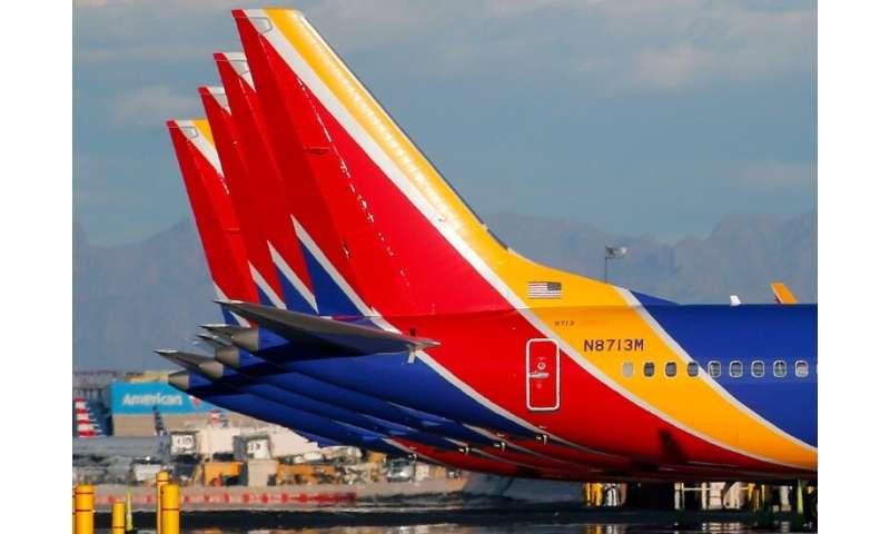 A Southwest Airlines Boeing 737 MAX 8 aircraft—like these ones pictured in Phoenix, Arizona earlier this month—made an emergency