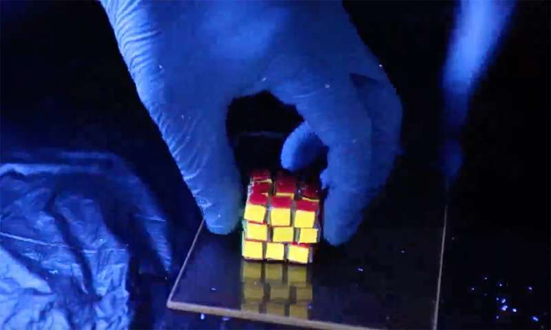 A squishy Rubik's Cube that chemists built from polymers holds promise for data storage