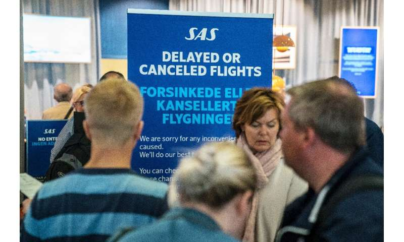 A strike by pilots has affected about 70 percent of Swedish airline SAS's flights, with 673 cancelled
