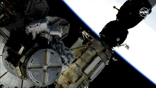 Astronauts take spacewalk to swap space station's batteries