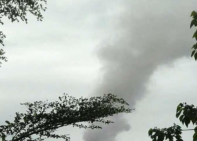 Australia's Bureau of Meteorology said the ash reached more than 13 kilometres (44,000 feet) into the air