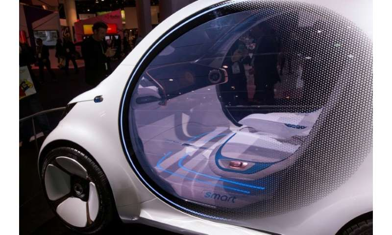 Autonomous vehicles like the Mercedes-Benz Smart Vision EQ concept car are being shown at the Consumer Electronics Show, as a ca