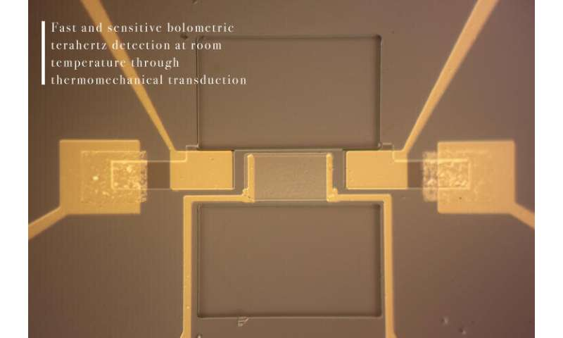 Balancing the beam: Thermomechanical micromachine detects terahertz radiation