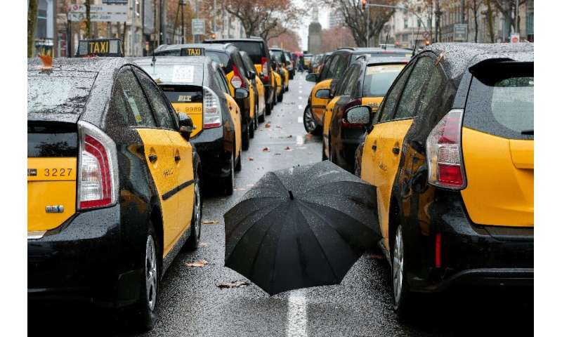 Barcelona taxi drivers took strike action in January