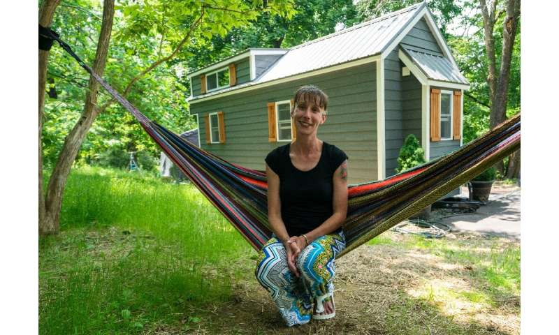 """Brandy Jones, her husband and two sons now live in a tiny home in Reading, Pennsylvania—she says it makes living """"affordabl"""