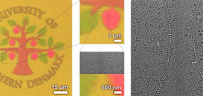 Bright colors produced by laser heating