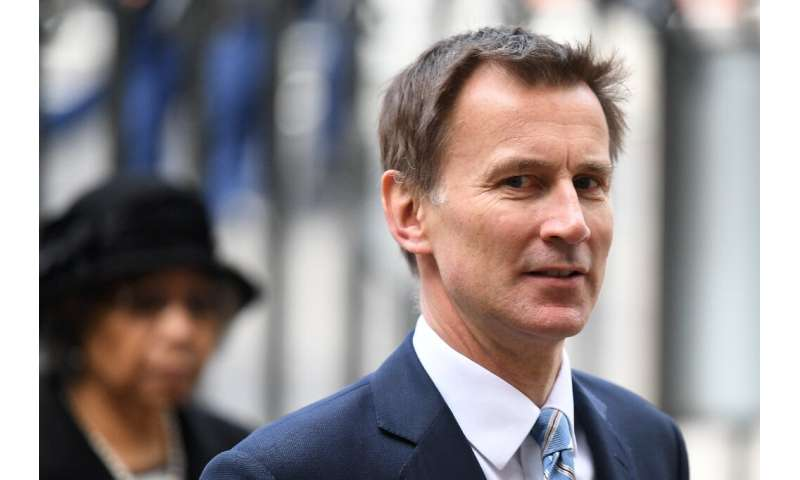 """British Foreign Secretary Jeremy Hunt (pictured April 2019) said that """"the international community will take all necessary"""