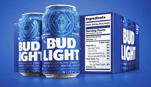 Bud Light debuts bigger nutrition labels