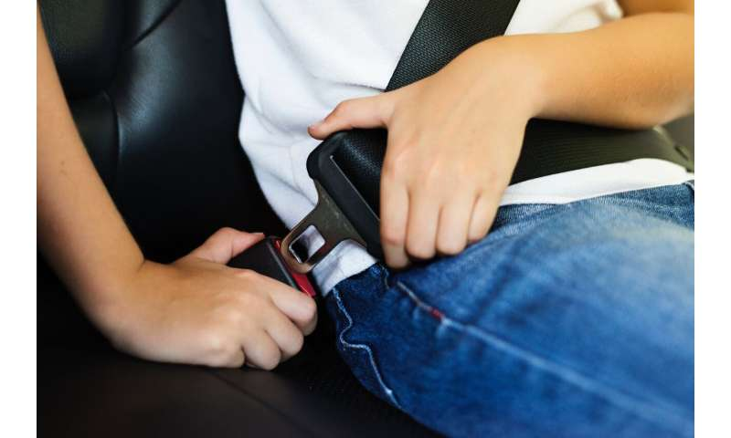 Data shows buckling up saves lives in auto crashes