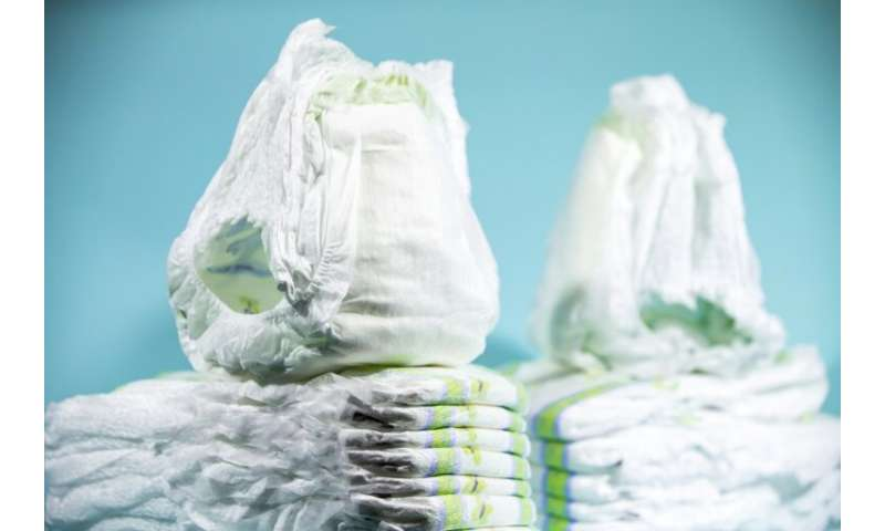Disposable diapers pose an environmental nuisance as they are lined with non-biodegradable plastic and use the chemical sodium p