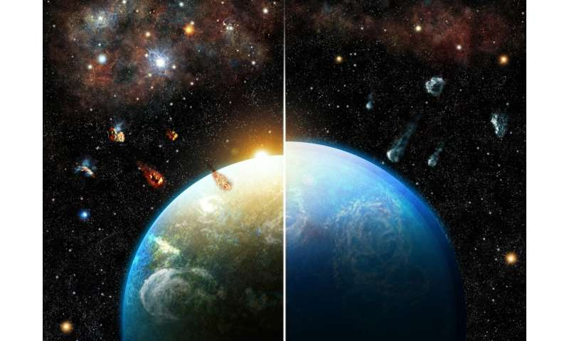Do you like the solid surface of the Earth and the climate inclined to life? Thanks to your lucky star