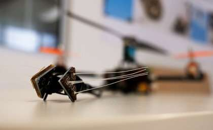 Drones sensing by a whisker