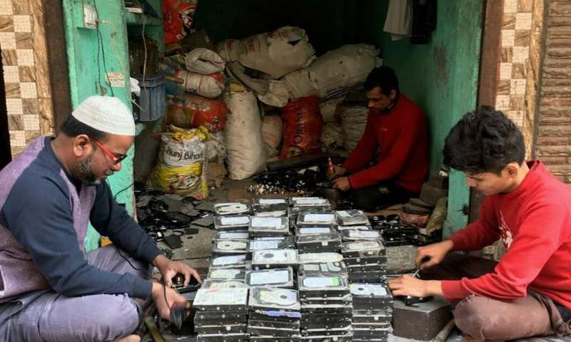 Electronic waste is recycled in appalling conditions in India