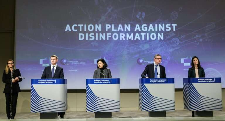 "European Commission officials are campaigning against ""disinformation"" which they see as a threat in election campaign"