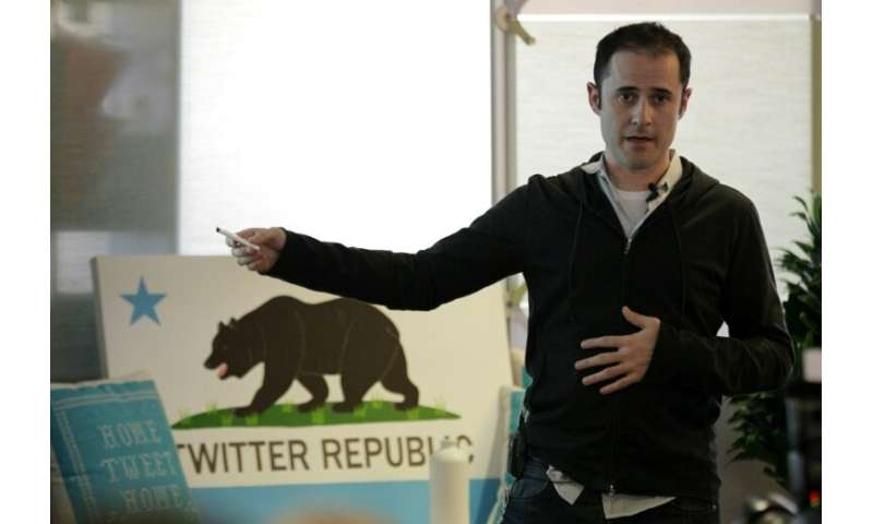 Evan Williams in September 2010, when he was Twitter's CEO, at the company headquarters in San Francisco