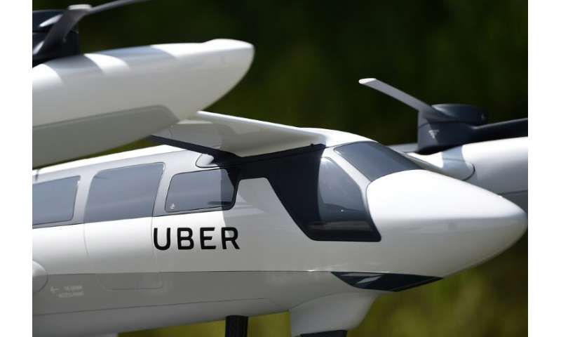 Experts expect flying taxis, a model of which is pictured here, to take to the skies by 2025