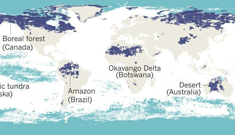 Five maps that reveal the world's remaining wilderness